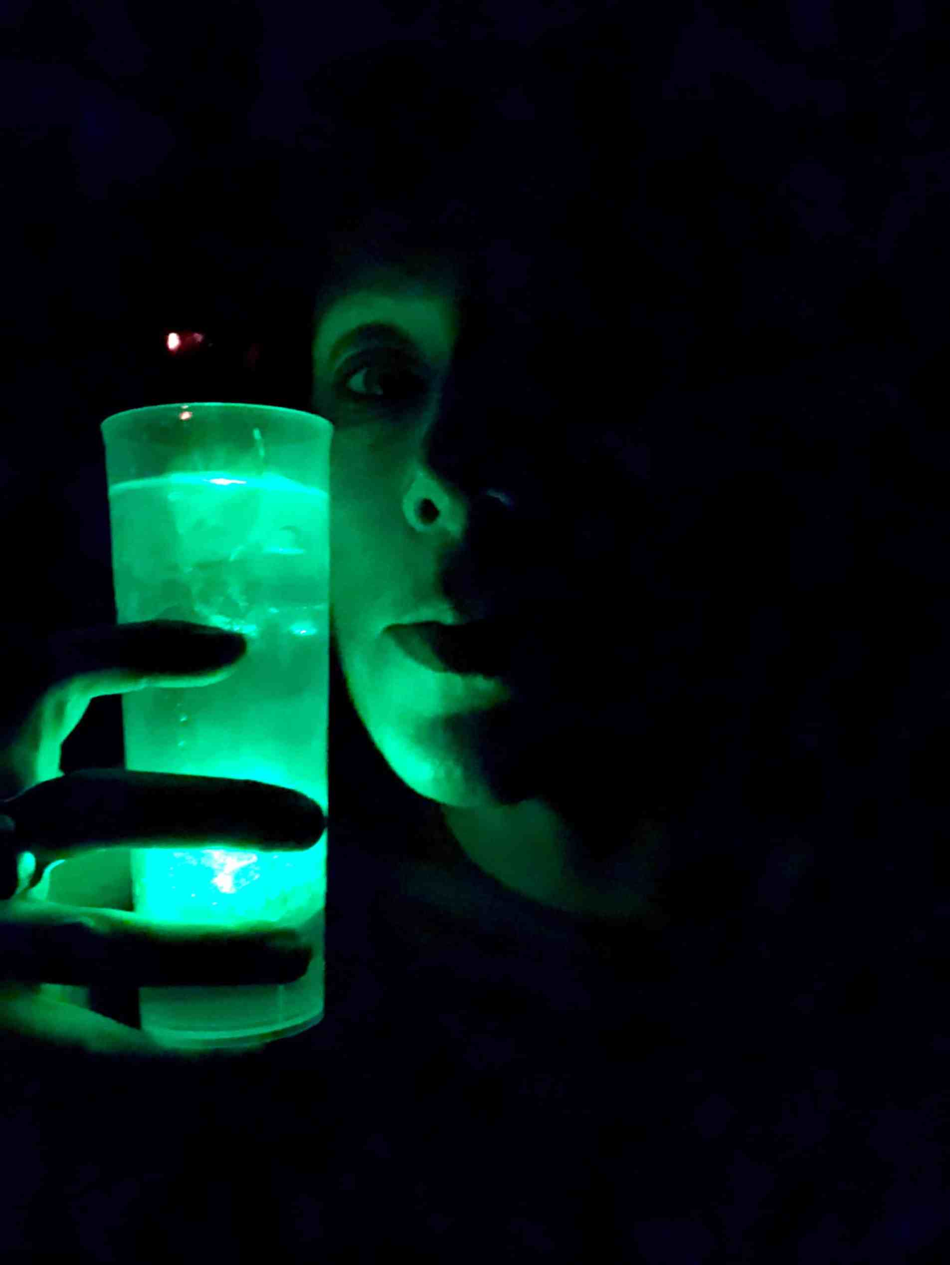 Me and my glowing Aurora 360 Cocktail.