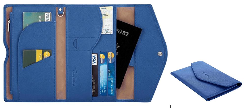 Travelambo Rfid Blocking Passport Holder Wallet & Travel Wallet Envelope 7 Colors