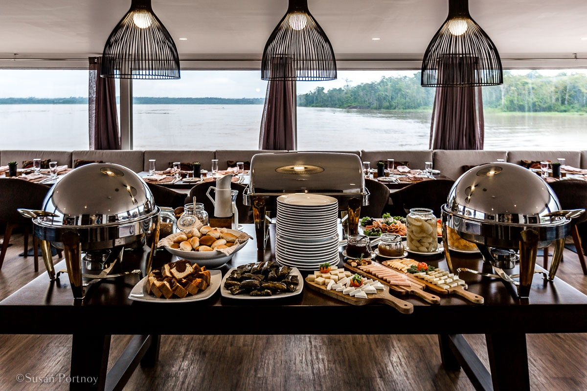 The dining Room on the Zafiro | Amazon River Cruise Peru -International Expeditions-16