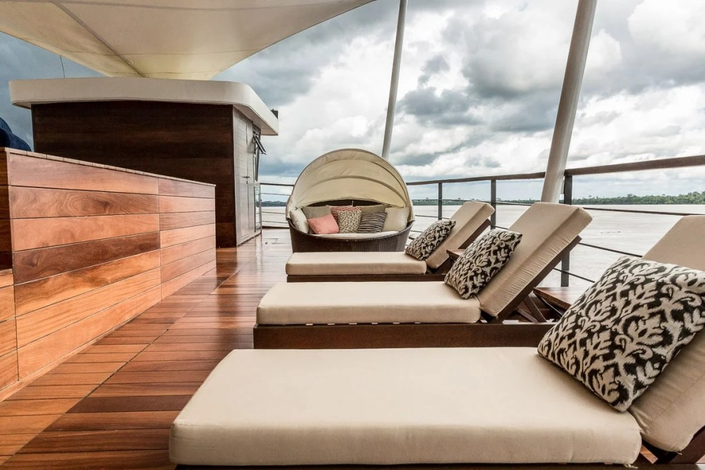 The Zafiro observation deck - Amazon_International Expeditions  Amazon River Crusie
