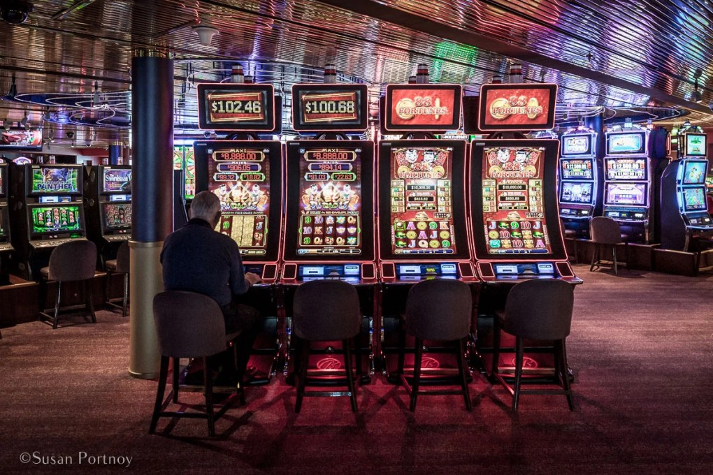 One of the many slot machines in the casino. - Lessons Learned on an Holland America Alaskan Cruise-489620180609
