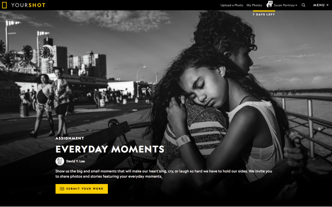 Image was the cover of a Nat Geo Homepage