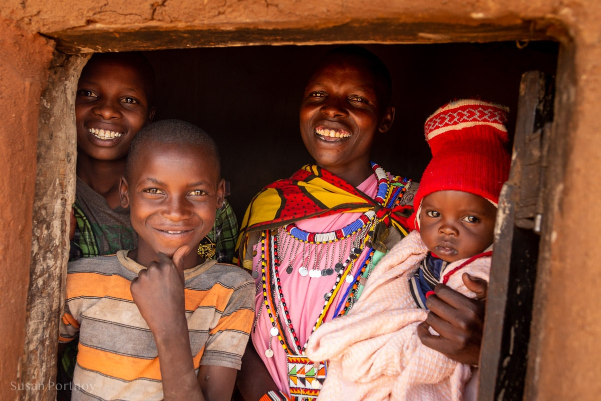 Maasai Family in the their hut - How to Experience More Beyond Kenya's Big Five -8517