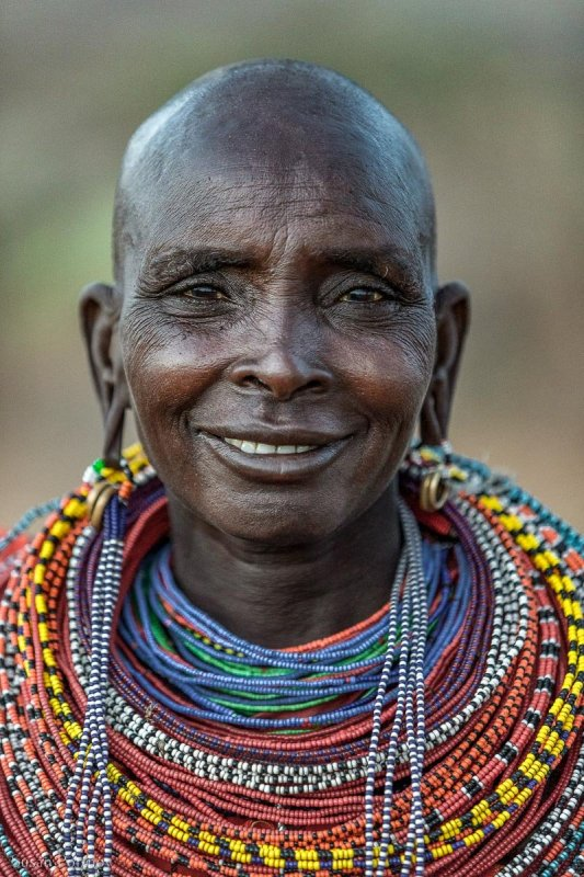 Portrait of a Samburu woman from Northern Kenya