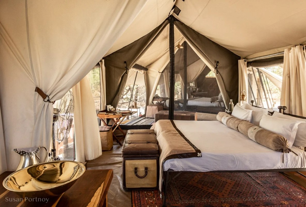 View from one tent into the other - Botswana Safari --untitledSelinda Explorers Camp-0277-3