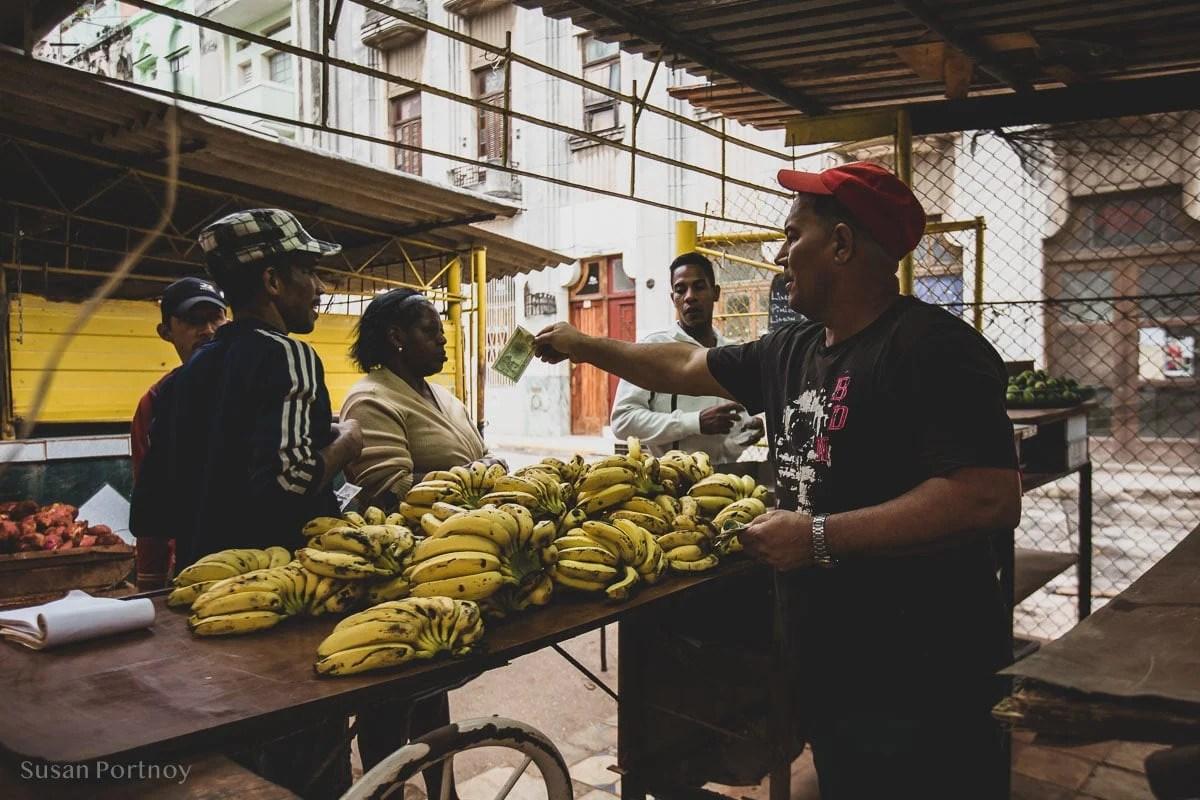 Fruit market in Central Havana, Cuba