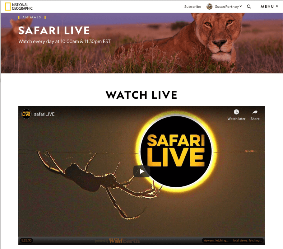 National Geographic Safari Live - Live Cam