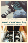 Camera equipment that I use when I travel