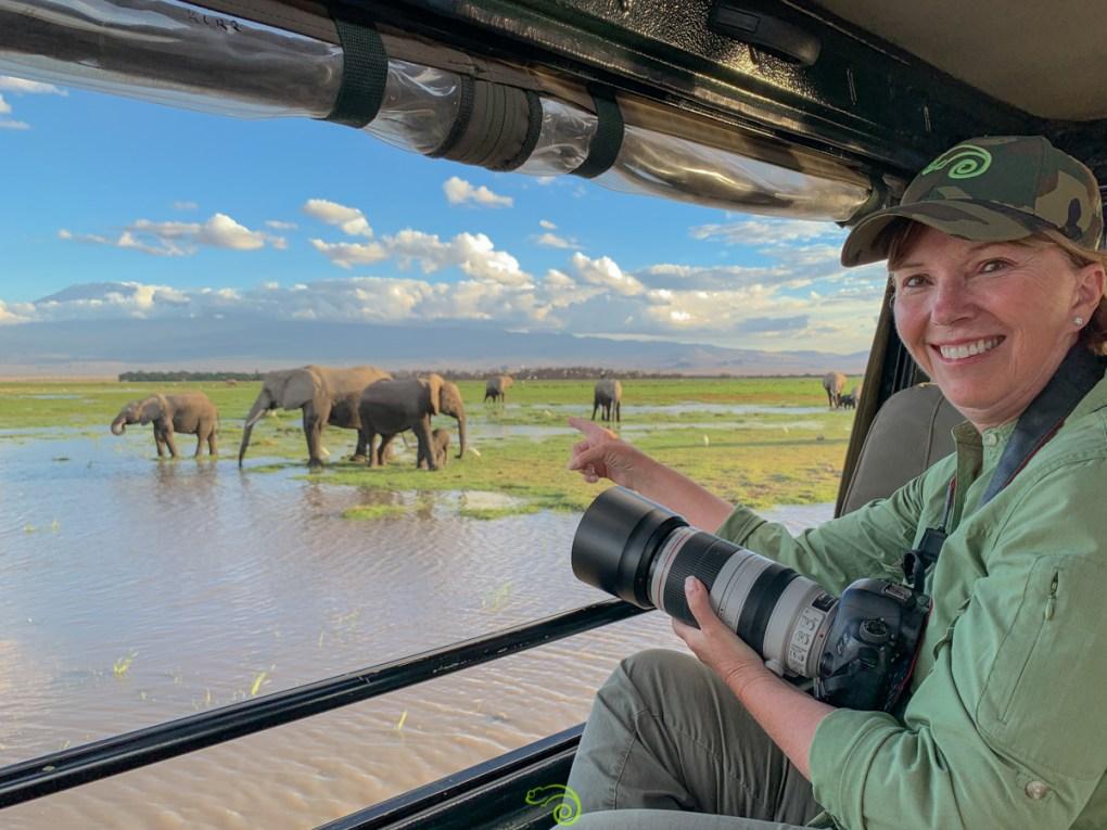 Woman on safari