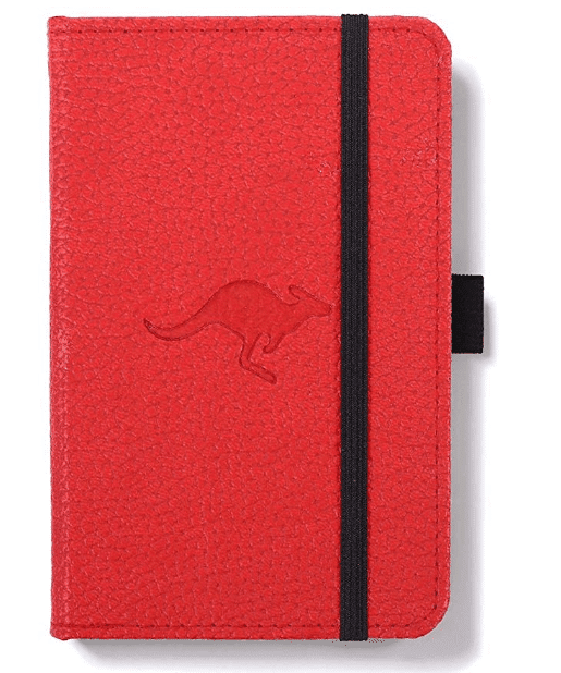 "Dingbats D5408R A6 Lined""Wildlife Portrait Pocket Hardcover"" Notebook - Red"