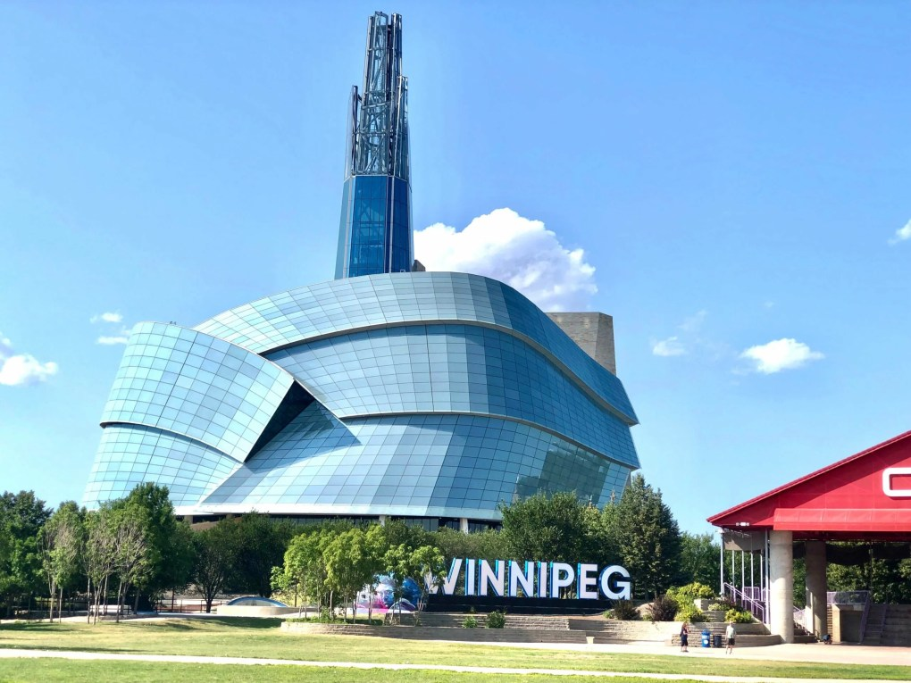 The exterior of the Canadian Museum of Human Rights