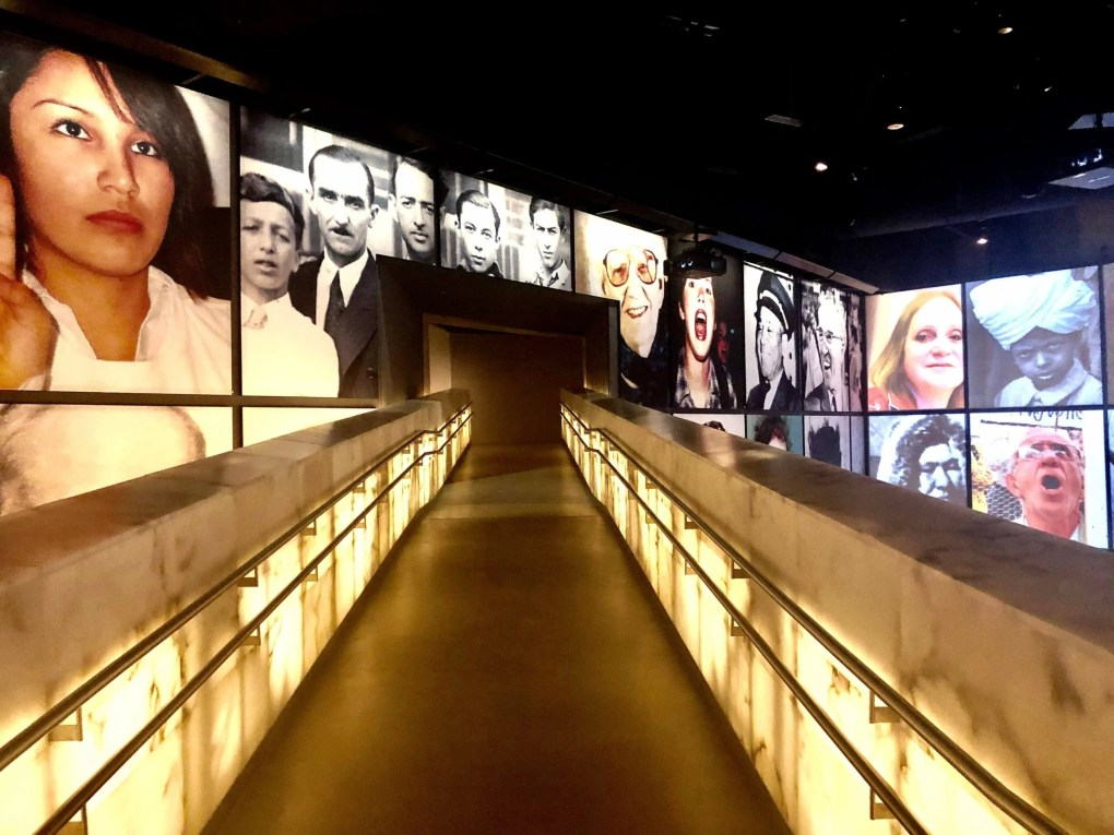 Inside the Museum of Human Rights in Winnipeg, Manitoba