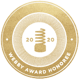 2020 Webby Award Honoree badge