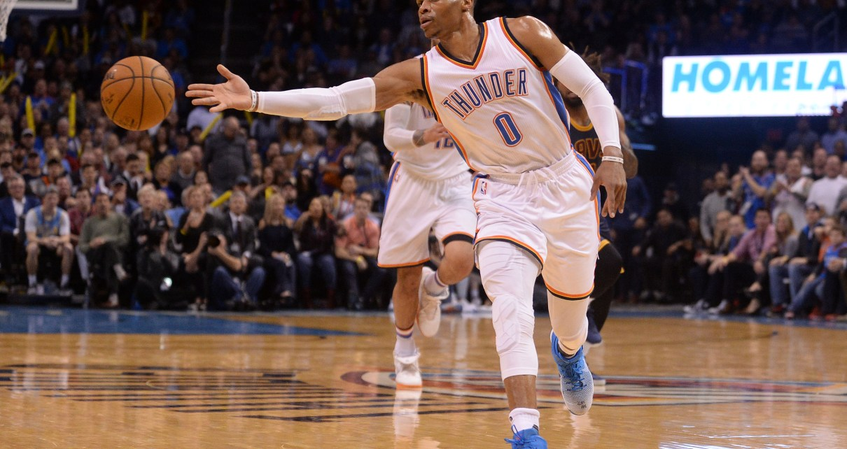 Russell Westbrook dishes for OKC