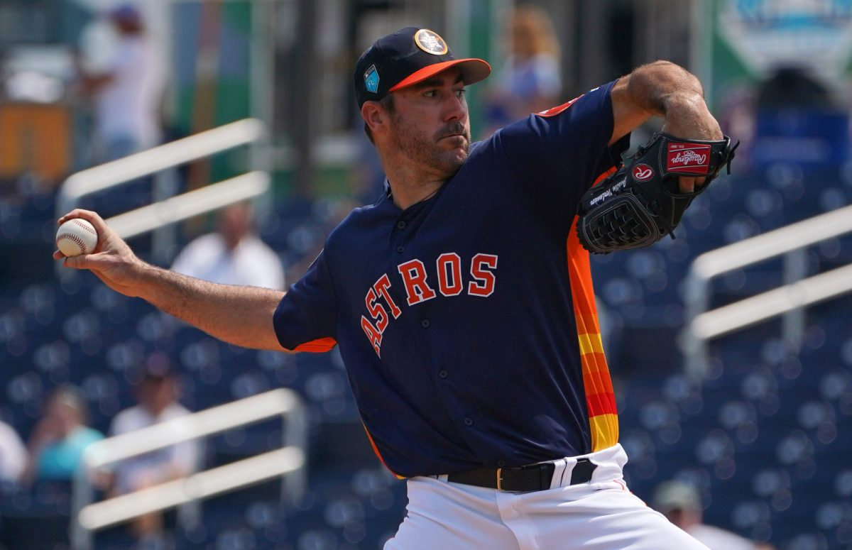 MLB: Justin Verlander Named Houston Astros Opening Day Starter