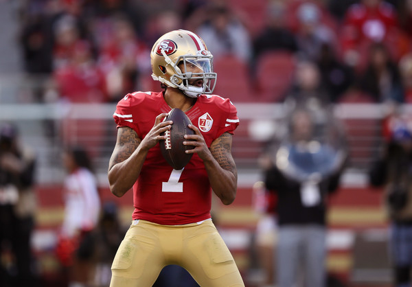 Colin Kaepernick (Jan. 1, 2017 - Source: Ezra Shaw/Getty Images North America)