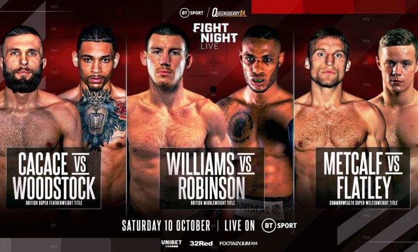 Liam Williams vs Andrew Robinson live