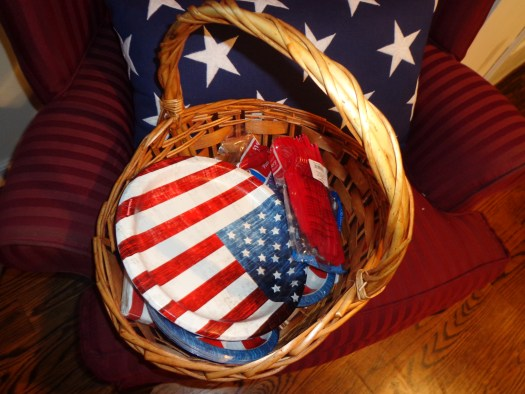 Red White and Blue In A Baket by Sheila Gail Landgraf