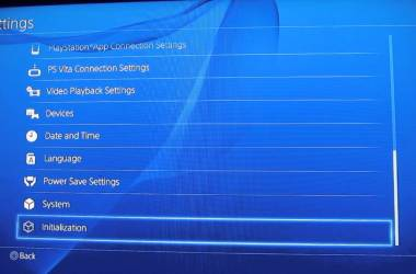 Factory Reset a PS4 Console