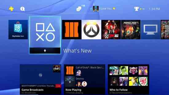 Share Games on PS4