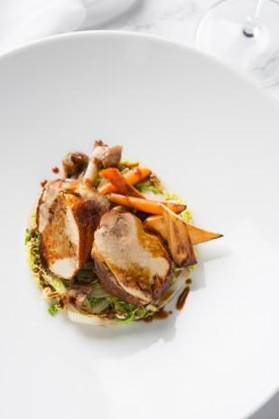 Faraona ripiena di castagne (Guinea fowl stuffed with chestnuts, savoy cabbage) jpg