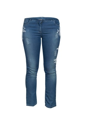 Ermanno Scervino Junior Blue Embroidered Faded Denim Jeans(8Yrs)_AED649