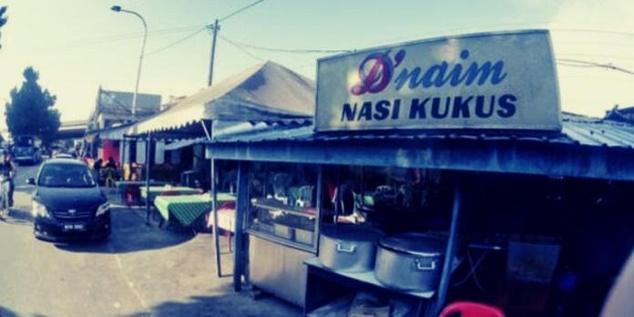 Restoran D'Naim Nasi Kukus yang terletak di Jalan Pantai Dalam
