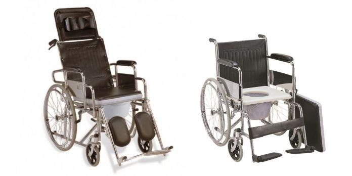 Kerusi roda tandas atau mandi jenis baring atau sandar