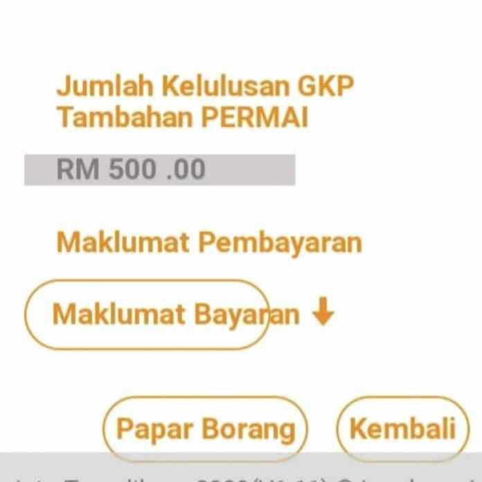Jumlah kelulusan GKP Tambahan RM500