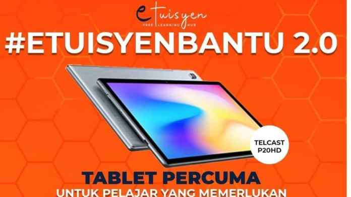 Permohonan Tablet Percuma Etuisyen Untuk Pelajar Yang Memerlukan
