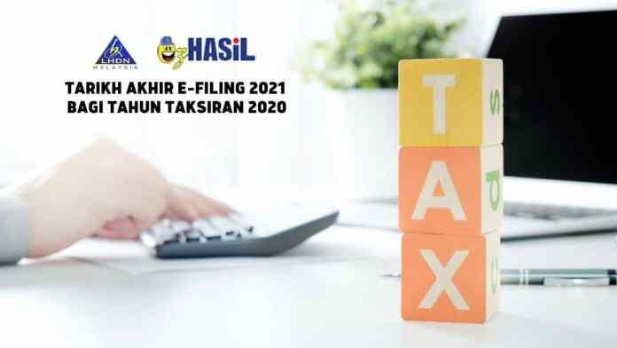Tarikh Akhir e-Filing 2021 Bagi Tahun Taksiran 2020