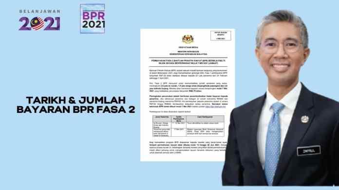 Tarikh dan Jumlah Bayaran Bantuan Prihatin Rakyat (BPR) Fasa Ke-2