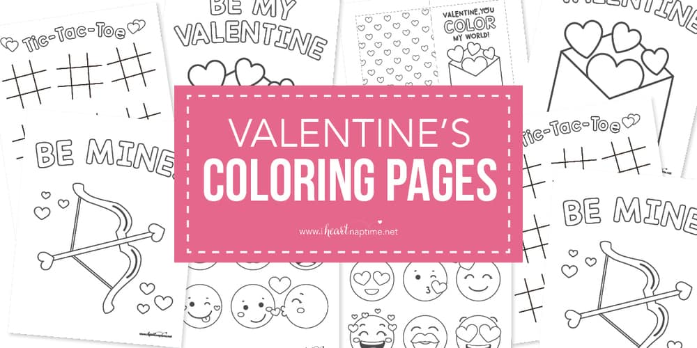 Free Valentine Coloring Pages For Kids I Heart Naptime