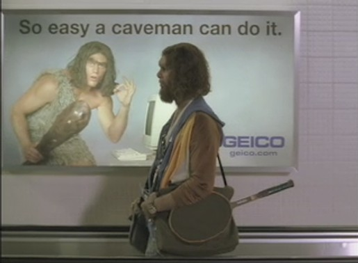 Image result for so easy even a caveman can do it