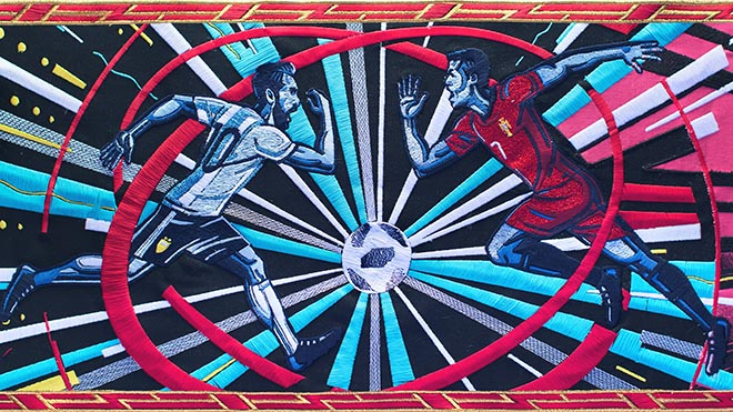 BBC Tapestry for FIFA World Cup 2018 - Messi and Ronaldo