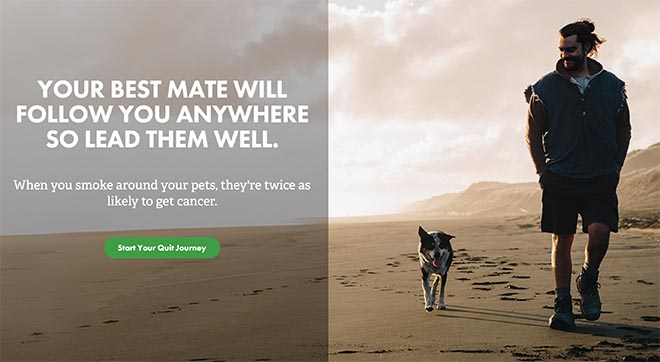 Quitline Quit for your pets site