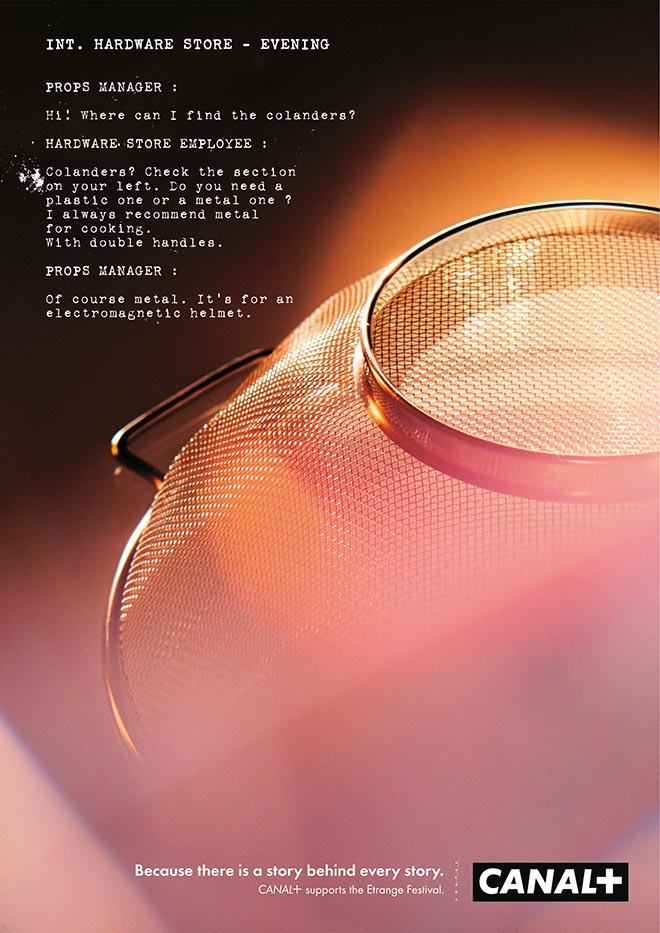 Canal+ Colander Story Behind Every Story print ad