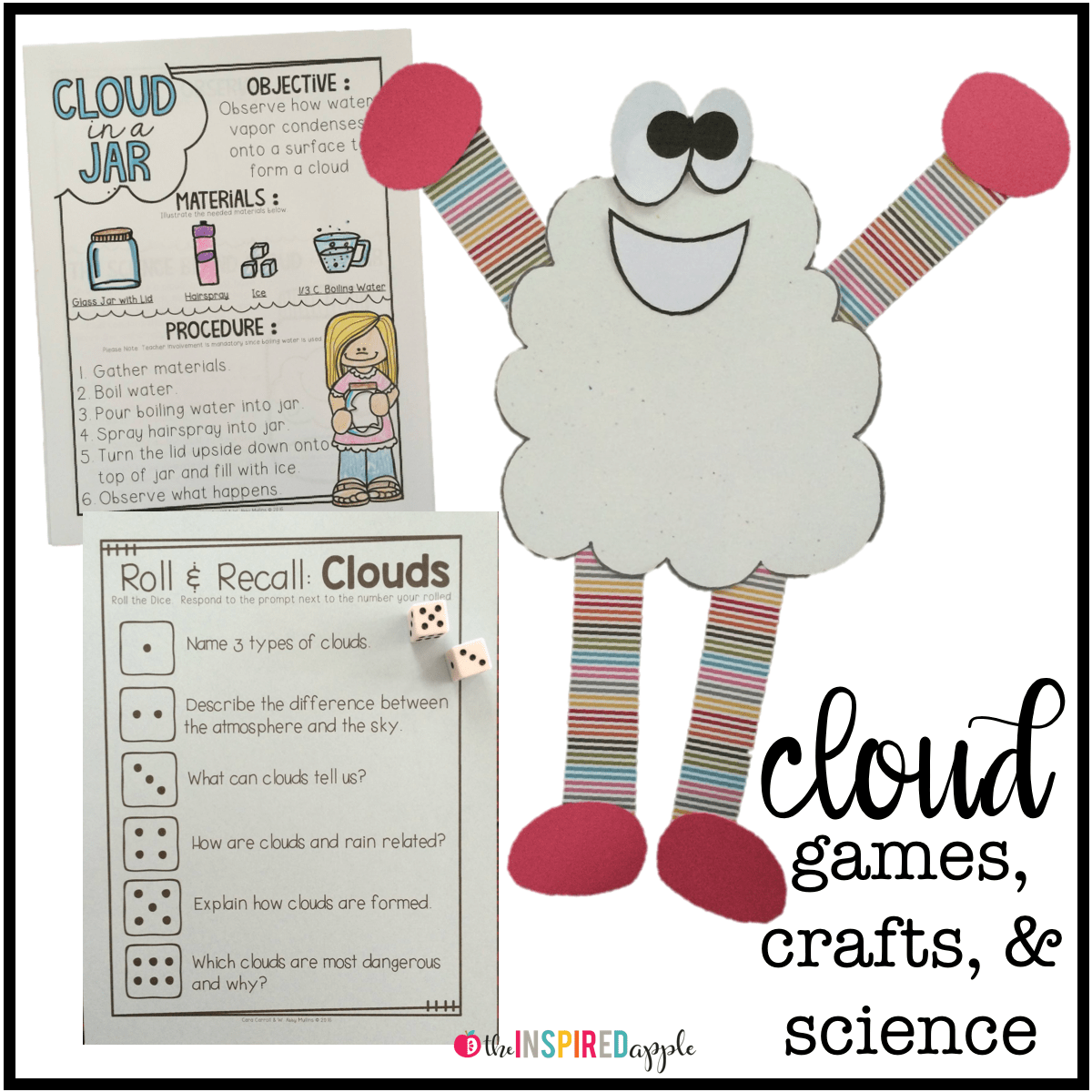 Teaching And Learning About Clouds Can Be So Fun You Kindergarten First Grade And Second