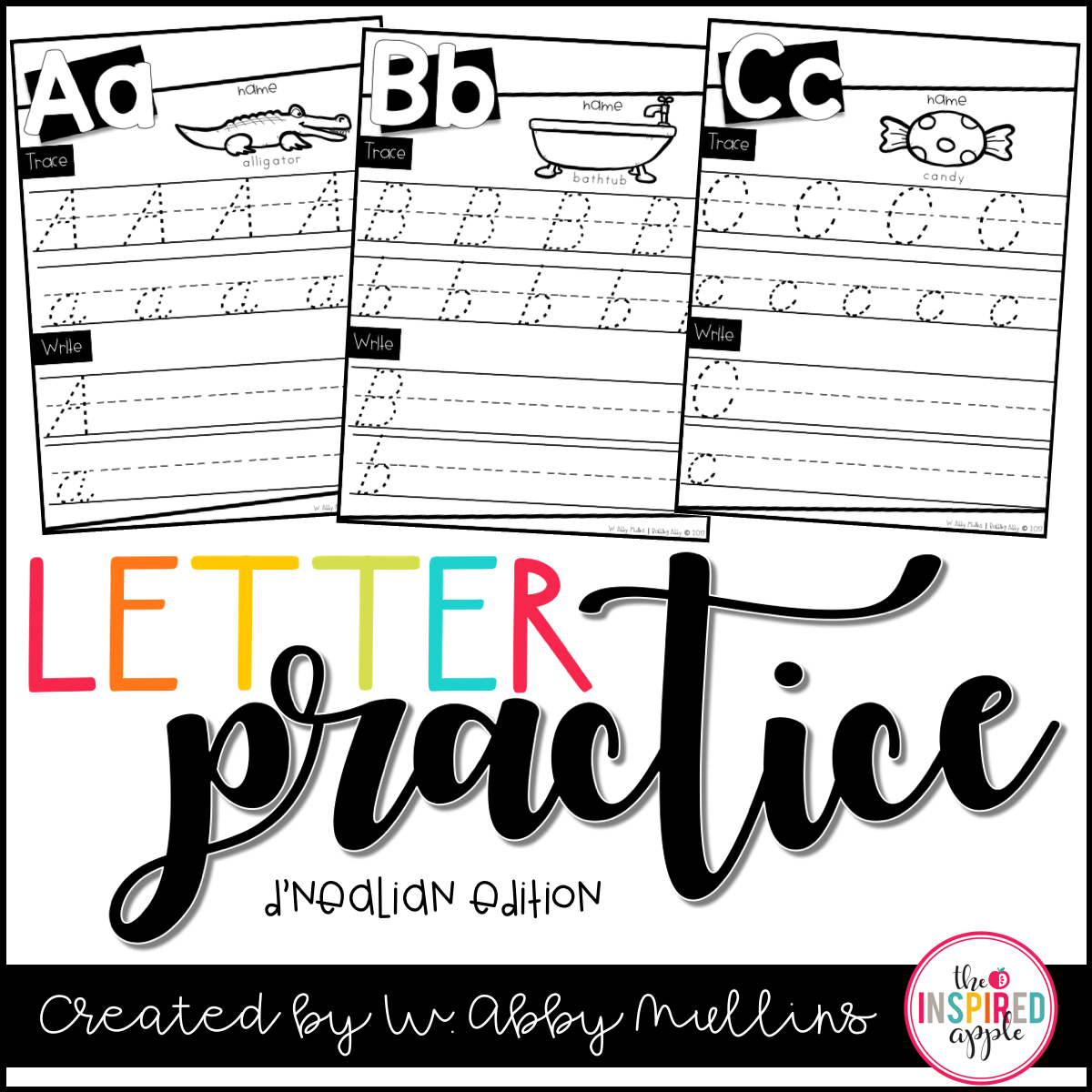 This Is A Free Set Of D Nealian Letter Practice Worksheets