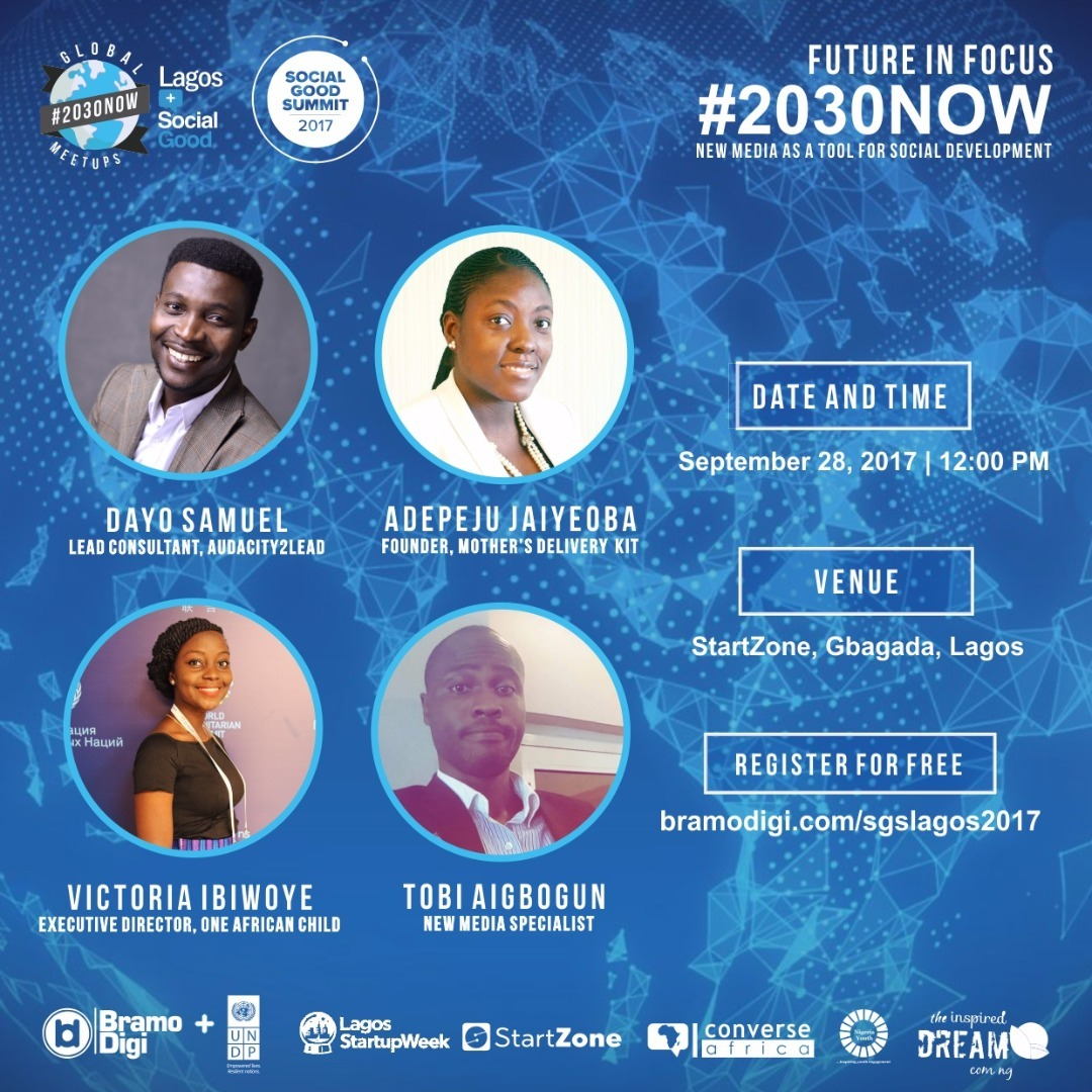 #2030NOW: Countdown To Lagos Edition of The Social Good Summit This Thursday
