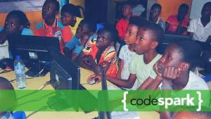 Children learning to code at codespark.ng