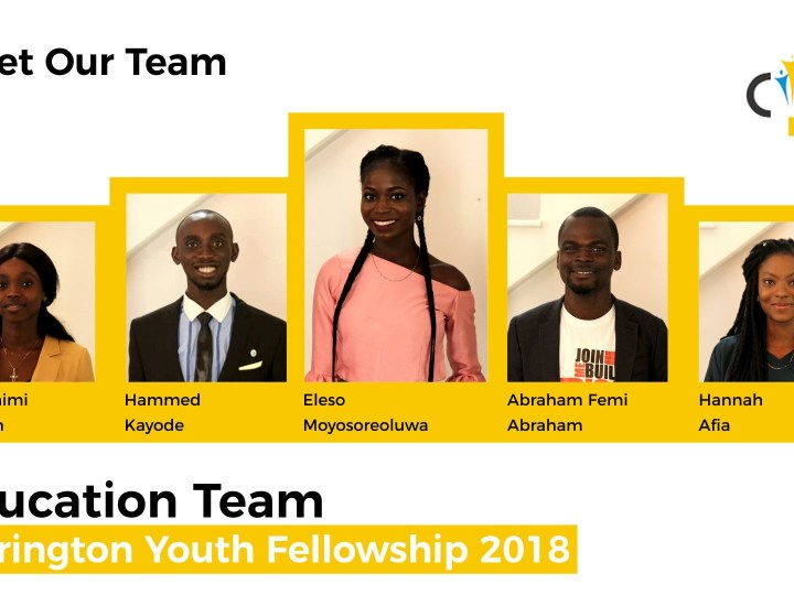 5 Nigerian youths to empower teachers in Lagos, sponsored by the US Consulate.