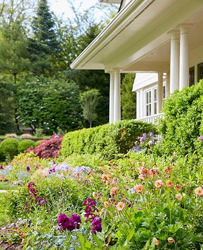 garden scene in Short Hills NJ