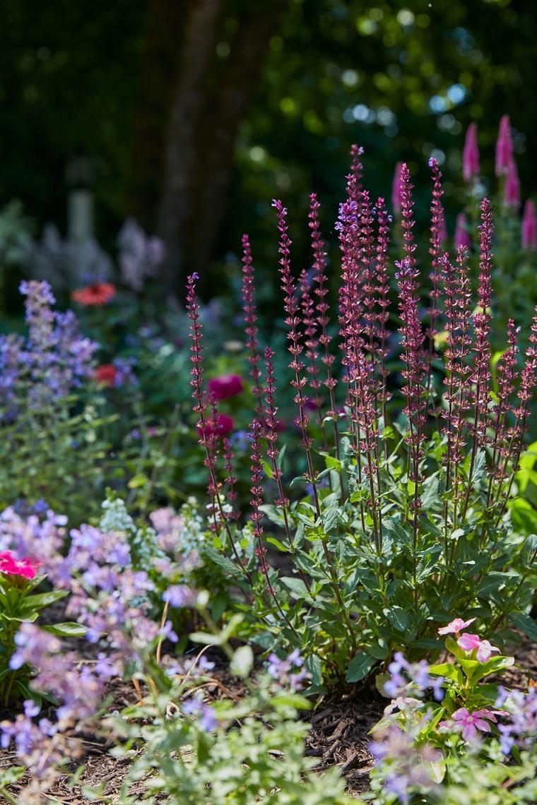 custom home garden in Short Hills New Jersey