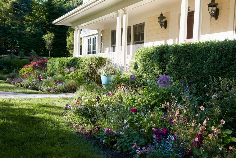 flowers in front of house for home garden gallery addition august 2020
