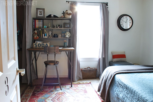 Teen Boy's Small Bedroom {An Update}