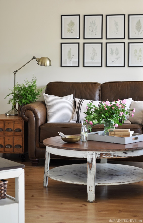 Brown Leather Furniture Decorating Boldly