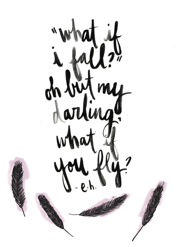 What If I Fall - What If You Fly - Free Downloadable Print