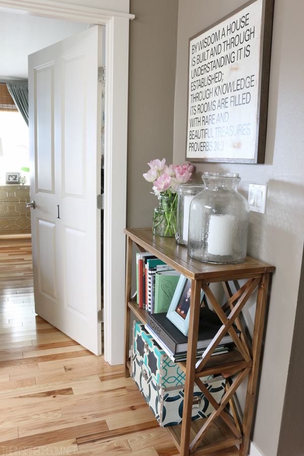 {Small Spaces} My Upstairs Hallway Bookshelf - The ...