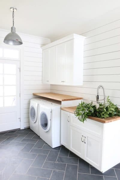 Laundry Room and Mudroom by Studio Mcgee :: The Inspired Room Vision for the Laundry and Craft Room in Our New House